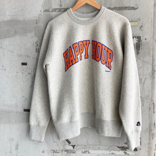 <img class='new_mark_img1' src='https://img.shop-pro.jp/img/new/icons22.gif' style='border:none;display:inline;margin:0px;padding:0px;width:auto;' />HAPPY HOUR COLLEGE LOGO SWEAT designed by Shuntaro Watanabe