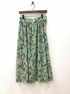 mur-mur/ntr 綿麻花柄プリントスカート