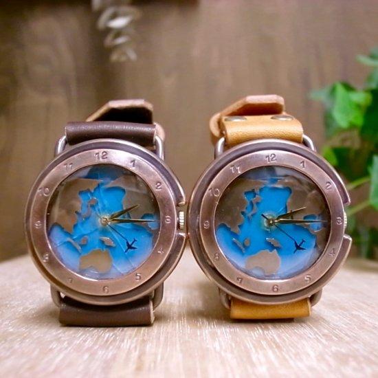 世界地図の腕時計