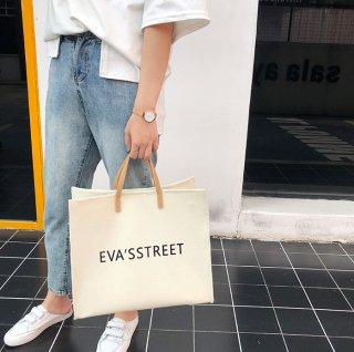 【Mサイズ】シンプルデザイントートバッグ(全4色)