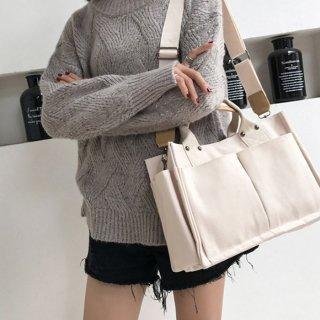 【Mサイズ】ちょうど良いサイズのトートバッグ(全2種・2色)