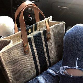 【Mサイズ】茶色のお洒落なトートバッグ(全2色)