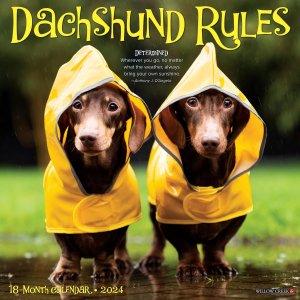 WillowCreek ダックスフンドルール カレンダー Dachshund Rules