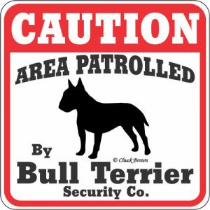 Caution サインボード ブルテリア