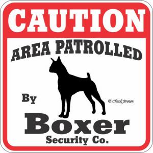 Caution サインボード ボクサー