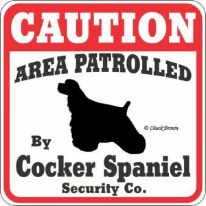 Caution サインボード コッカースパニエル