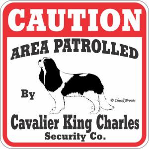 Caution サインボード キャバリアキングチャールズスパニエル