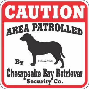 Caution サインボード チェサピークベイレトリバー