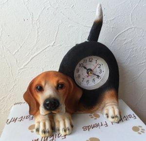 しっぽフリフリ♪置き時計 ビーグル
