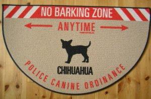 No Barking Zoneドアマット チワワ