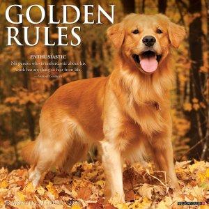 Golden Rules ゴールデンレトリーバー カレンダー