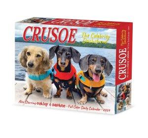 ダックスフンド【Crusoe the Celebrity Dachshund日めくりカレンダー】---Willow Creek