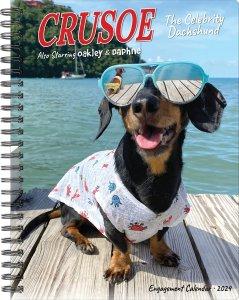 週めくりスケジュール帳 ダックスフンド【Crusoe the Celebrity Dachshund Engagement Calendar】
