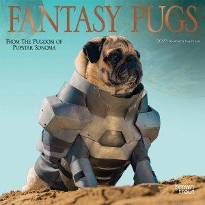 パグ FANTASY PUGS 【ミニ】カレンダー  --- Browntrout