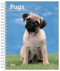 PUG パグ 週めくりスケジュール帳 週めくりカレンダー Browntrout
