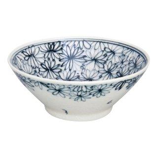 染付花詰 平小鉢