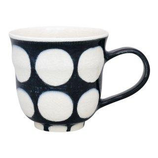 染付濃丸紋 マグカップ