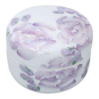 ローズ(紫) 蓋物