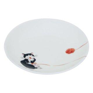 ねこ 丸小皿(D)