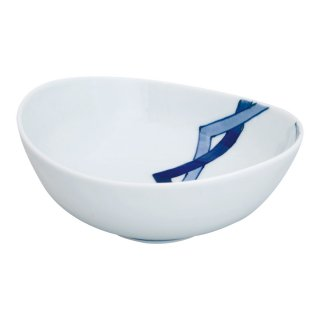 重ね升紋 楕円鉢