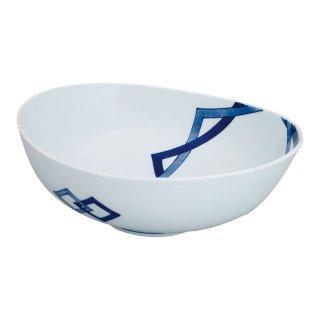 重ね升紋 楕円盛鉢