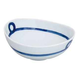 帯紋 楕円鉢