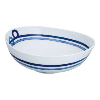 帯紋 楕円盛鉢