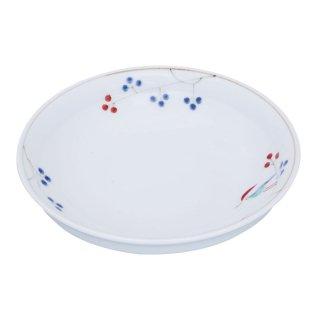 錦鳥と木の実 杵型五寸深皿
