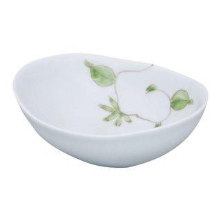 錦唐草 楕円小皿(緑)