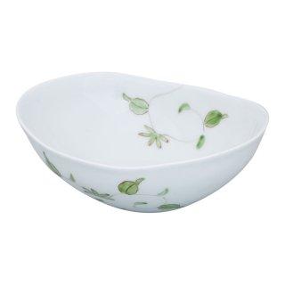 錦唐草 楕円浅小鉢(緑)