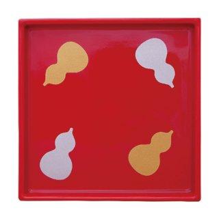赤ひさご絵 角取皿