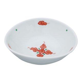 錦赤雲紋 変型小鉢