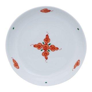 錦赤雲紋 丸取皿