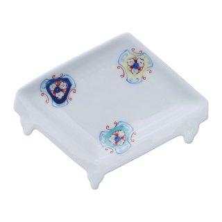 錦更紗散し 盤型手塩皿