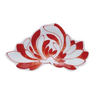 錦赤 菊花型手塩皿