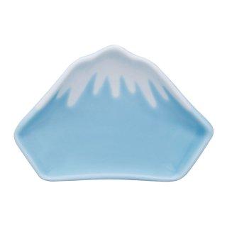 薄青冠雪 富士山型手塩皿