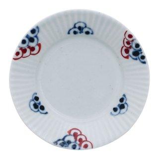 染錦波紋 しのぎ豆皿