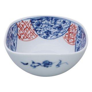 染錦地紋桜 角小鉢