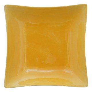 黄交趾 五寸角浅鉢
