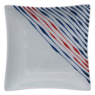二色つれづれ 五寸角浅鉢
