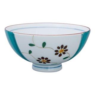 京小花 飯碗(グリーン)