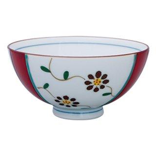 京小花 飯碗(赤)