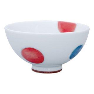 三色丸紋 ミニ飯碗