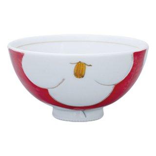 花紋 ミニ飯碗(赤)