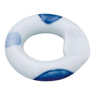 二色丸紋 リング箸置(青)