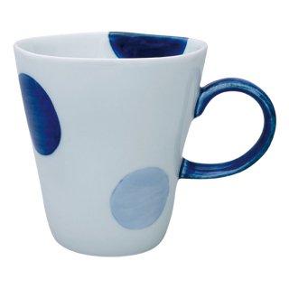 二色丸紋 Sマグカップ(青)