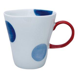 二色丸紋 Sマグカップ(赤)