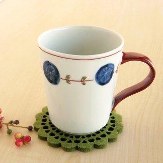 丸紋輪繋ぎ 立マグカップ