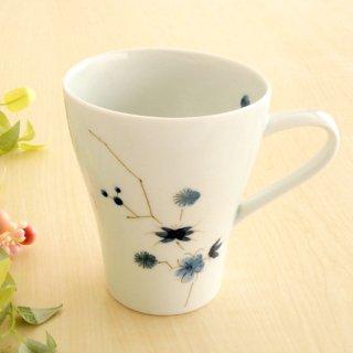 藍松竹梅マグカップ