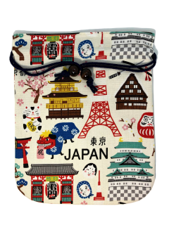日本柄プリント巾着袋